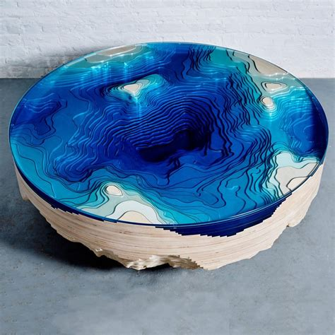 topography coffee table abyss horizon coffee table by christopher duffy 171 twistedsifter