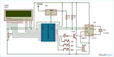 arduino based digital clock  alarm