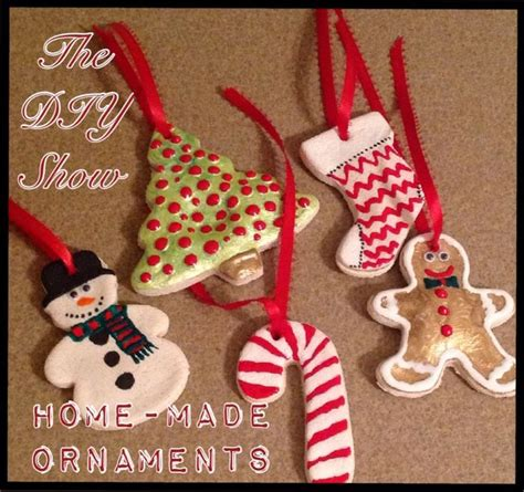 homemade salt dough christmas ornaments diy crafts