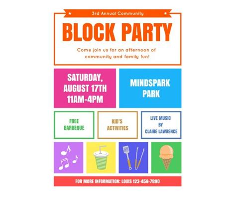 template flyer free party download this block party flyer template and other free