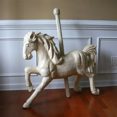 home interiors horse pictures paper mache carousel horse unique home decor art by