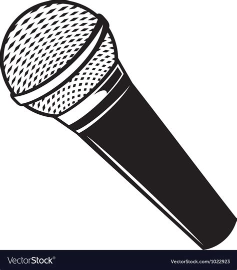 microphone clipart classic microphone royalty free vector image vectorstock
