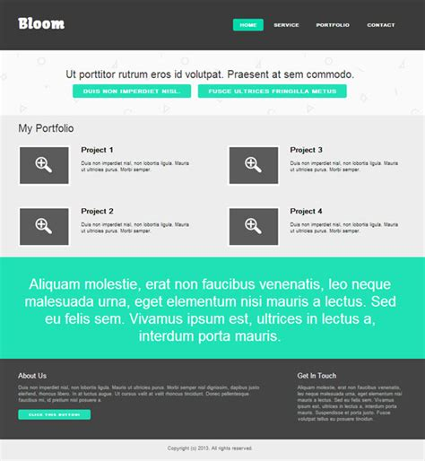 Create A Flat Website Template Html Css Tutorial File Designbump Easy To Build Websites From Templates