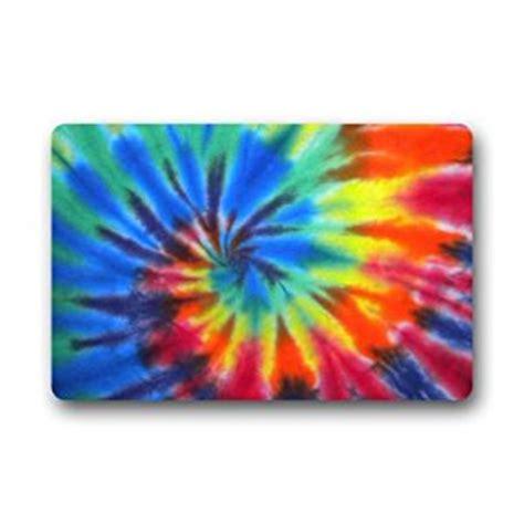 colorful tie dye decor printed coir doormat