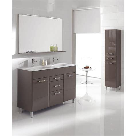 carrelage salle de bain beige et chocolat