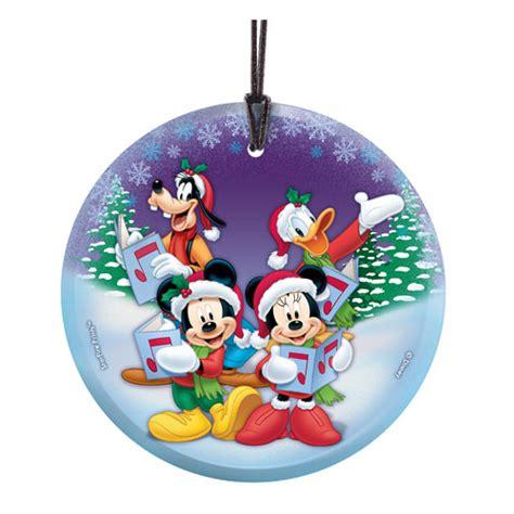 printable mickey mouse ornaments mickey mouse christmas carols hanging starfire glass print