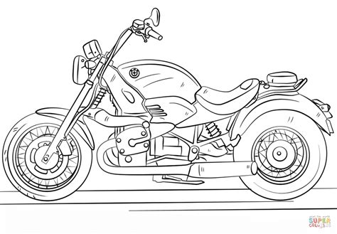 coloring page of a motorcycle motorcycle clipart coloring pencil and in color