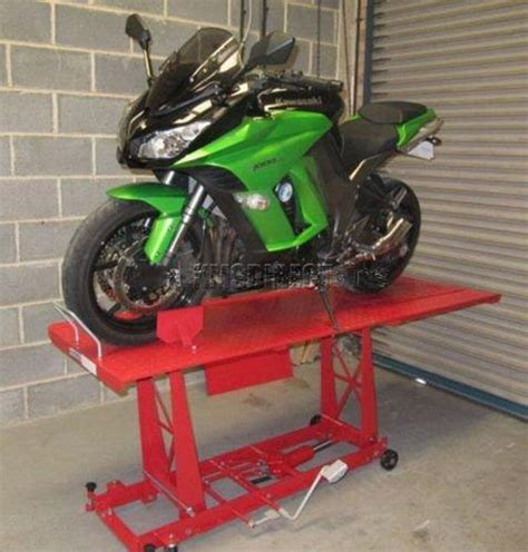 bench bike 1000lb hydraulic bike motorcycle motorbike workshop lift