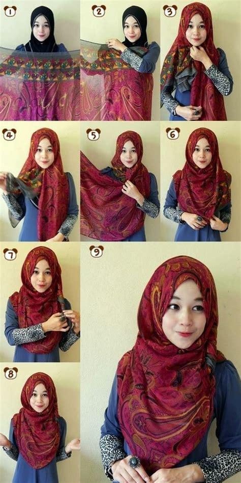 tutorial dandan yang cantik 8 tutorial hijab yang bisa kamu coba tanpa menggunakan