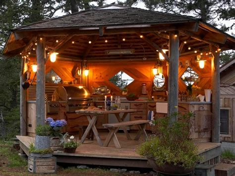 gazebo outdoor kitchen rustic outdoor kitchen gazebo rustic other metro by