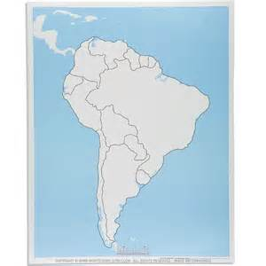 south america map unlabeled montessori spirit