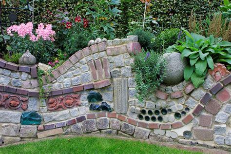 garten steinmauer selber bauen gartens max