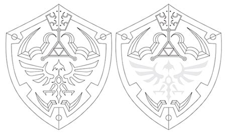 Hylian Shield Outline by Hylian Shield Template By Maxm2015 28 Images Hylian Shield Template By Revandarque Central