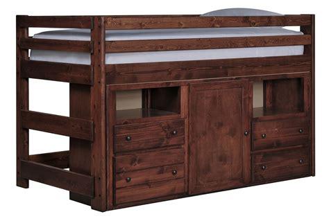 junior loft bed sedona junior loft storage bed living spaces