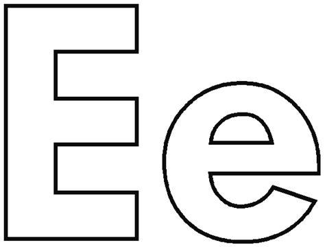 Coloring alphabet letters letter e