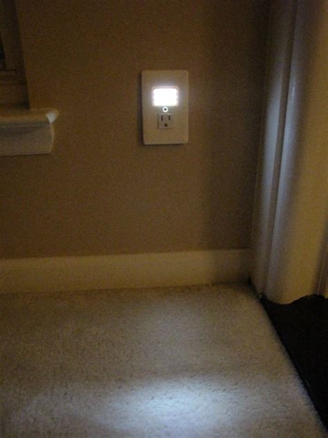 built in night light outlet replace your boring electrical outlet with a snazzy in