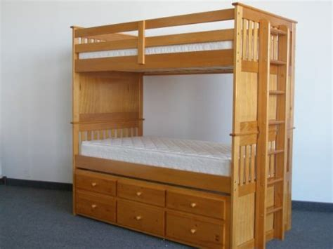 Captains Bunk Beds Bedz King Captains Bunk Bed With Trundle