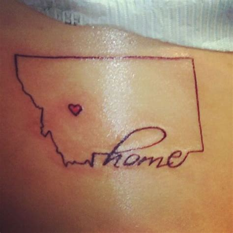 home is where the heart is tattoo home is where the is montana done my