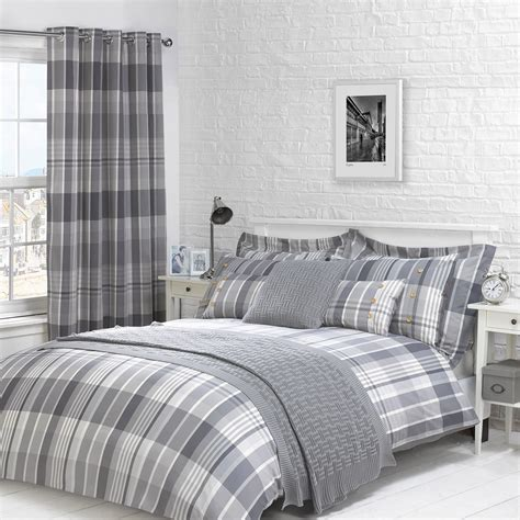 grey bedding and curtains kennedy charcoal grey luxury check duvet cover julian