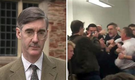 fear drake mp jacob rees mogg says wasn t scared in scuffle at bristol