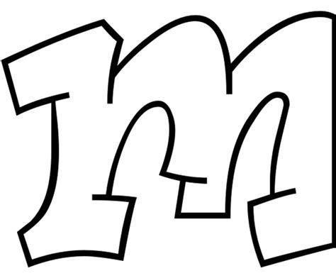 lettere grandi in corsivo sta disegno di lettera m da colorare