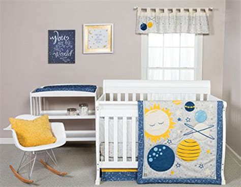 outer space crib bedding rocket baby bedding