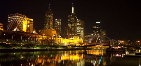 melbourne night light down the yarra by wolfenheim84 on