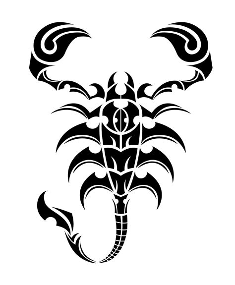 tribal scorpion tattoos tribal free vector 1278 free downloads