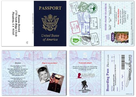 passport invitation template printable pictures to pin on