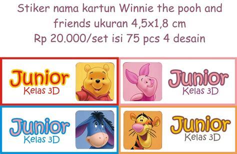 Stiker Nama Anak Bayi Lucu Unik Murah jual stiker nama anak dewasa lucu murah winnie the pooh kartun disney dokter stiker