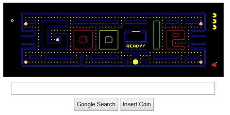 doodle pacman pacman homepage image search results