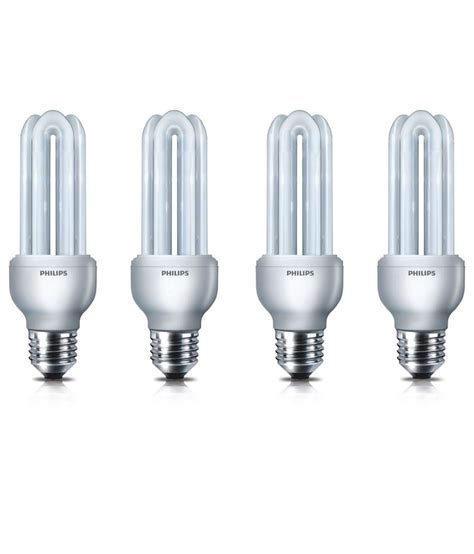 Philips Essential 14w 3 Kotak philips 14 watt cfl essential bulbs set of 4 buy