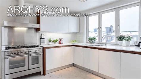 imagenes cocinas integrales blancas cocinas blancas modernas youtube