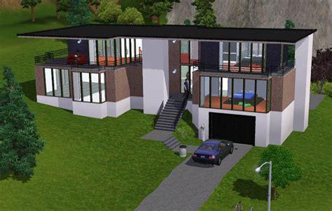 Game Decoration Home by Sims 3 Maison Moderne Au Toit Large Architecture Maison