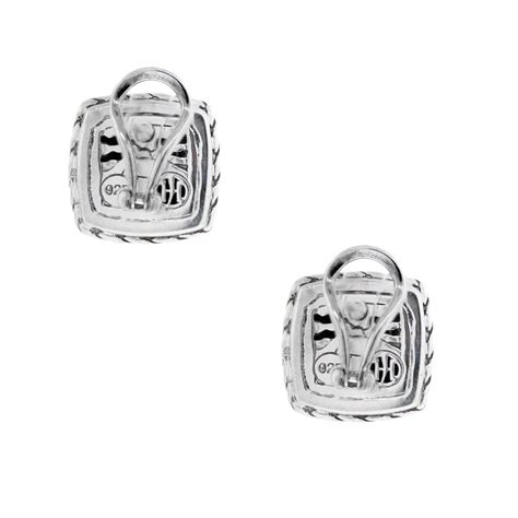 Sterling Silver Square Earrings hardy sterling silver palu square earrings