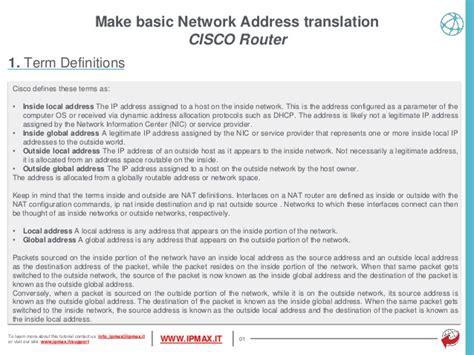 what is network address translation tutorial cisco switch how to transalte network address
