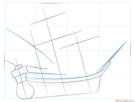 pirate ship a sketch for a how to how to draw a pirate ship step by step drawing tutorials