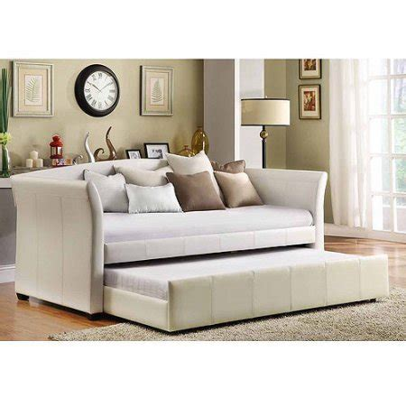 day beds at walmart faux leather daybed with roll out trundle white walmart com