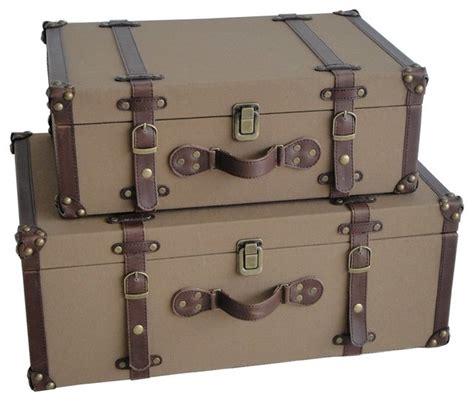 Decorative Cardboard Storage Boxes Home Organization Valencia Canvas Suitcases Modern Decorative Trunks
