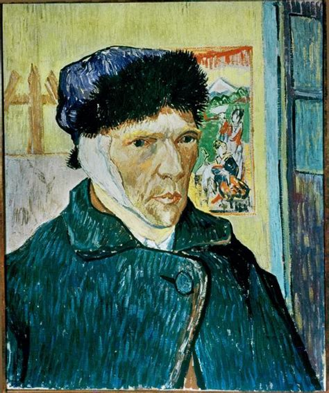 van gogh ear vincent van gogh self portrait with bandaged ear 1889