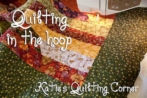 Machine Embroidery Quilting In The Hoop by How To Quilt Using Your Embroidery Machine