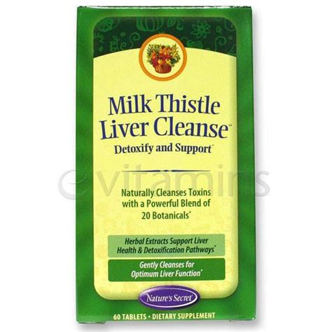 Liver Detox Symptoms Milk Thistle by Evitamins Nature S Secret Milk Thistle Liver Cleanse