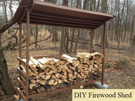diy firewood shed  prepared page