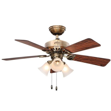 antique nickel ceiling fan hunter newsome 42 in indoor low profile brushed nickel