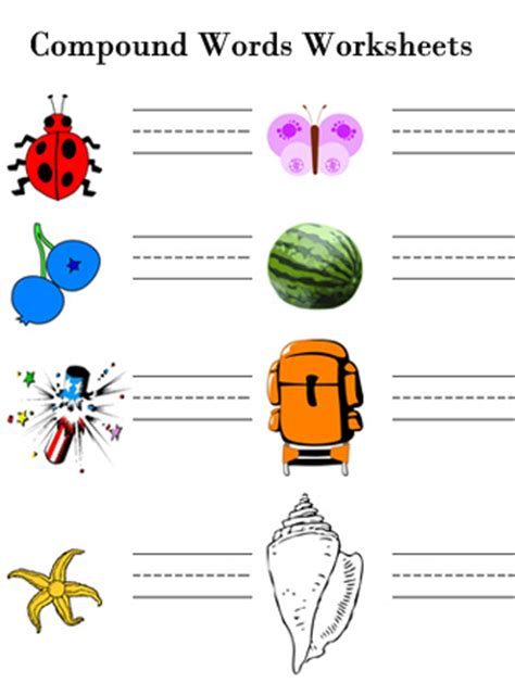 compound words free printable 2nd grade english