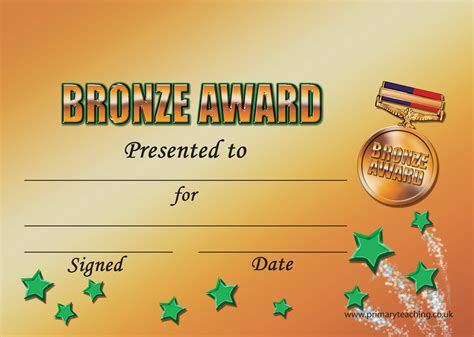 gold star award template