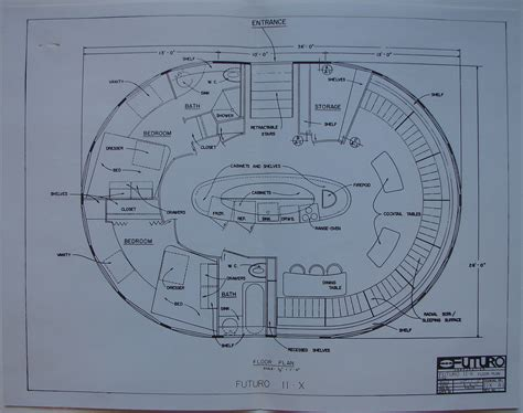 futuro house floor plan the futuro house the charles cleworth archive