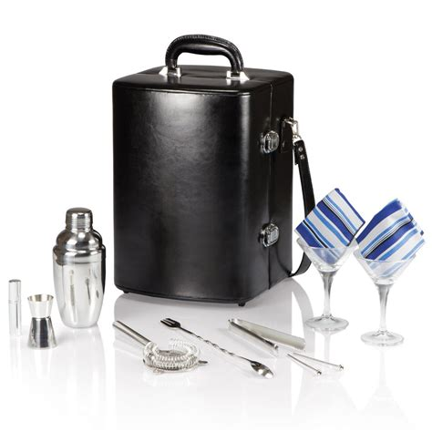 portable cocktail set picnic time two bottle portable cocktail set so that s cool