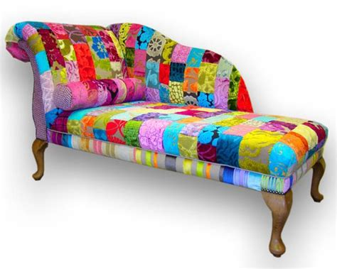 funky chaise lounge patchwork chaise longue in designers guild by