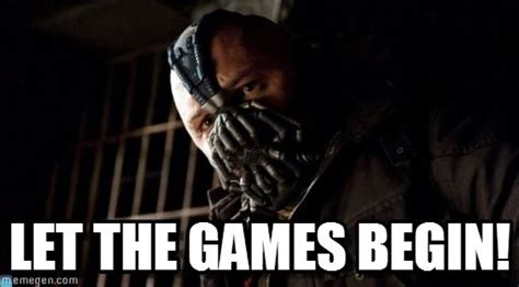 Fighting Talk Let The Battle Begin by Let The Begin Permission Bane Meme On Memegen